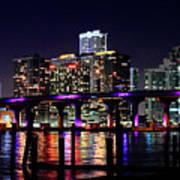 Miami At Night -3 Poster