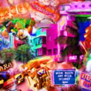 Miami Deco Poster