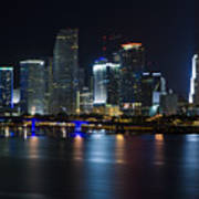 Miami Downtown Skyline Poster