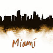 Miami Fla 2 Skyline Poster