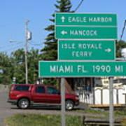Miami Florida 1990 Miles Us41 Poster