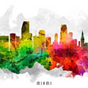 Miami Florida Cityscape 12 Poster