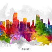 Miami Florida Cityscape 13 Poster
