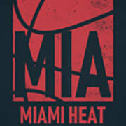 Miami Heat City Poster Art Poster