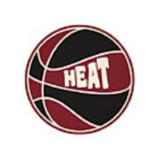 Miami Heat Retro Shirt Poster