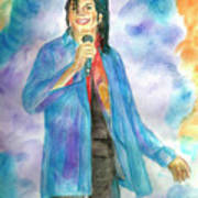 Michael Jackson - The Final Curtain Call Poster by Nicole Wang