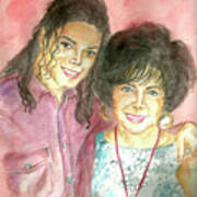 Michael Jackson And Elizabeth Taylor Poster by Nicole Wang