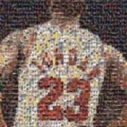 Michael Jordan Card Mosaic 2 Poster
