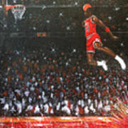 Michael Jordan Custom Painting Poster
