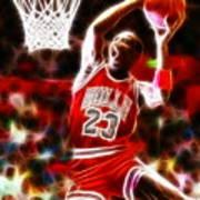 Michael Jordan Magical Dunk Poster by Paul Van Scott