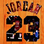 Michael Jordan Wood Art 1a Poster