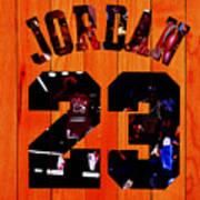 Michael Jordan Wood Art 1c Poster