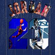 Michael Jordan Wood Art 2c Poster
