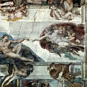 Michelangelo: Adam Poster