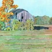 Michigan Autumn Barn Poster