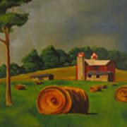 Michigan Farm Poster