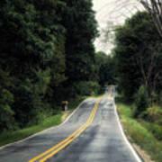 Michigan Rural Roadway In September Poster
