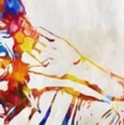 Mick Jagger Abstract Poster