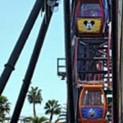 Mickey Donald Ferris Wheel California  Poster