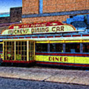 Mickey's Dining Car Poster
