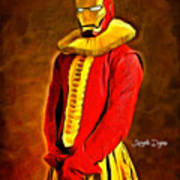 Middle Ages Iron Man Poster