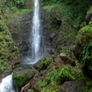 Middleham Waterfall In Dominica Poster