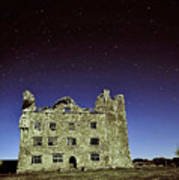 Midnight Blue At Leamanch Castle The Gateway To The Burren Poster