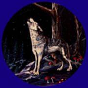 Midnight Wolf Poster