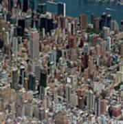 Midtown East Manhattan Skyline Aerial   Poster