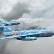 Mig 17s On The Hunt Poster