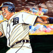 Miguel Cabrera  Poster by Dave Olsen