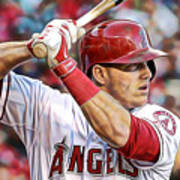 Mike Trout Baseball Poster
