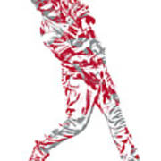 Mike Trout Los Angeles Angels Pixel Art 20 Poster