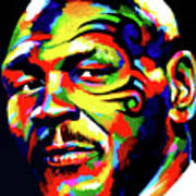 Mike Tyson Abstract Poster