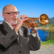 Mike Vax Professional Trumpet Player Photographic Print 3761.02 Poster