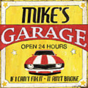 Mike's Garage Poster
