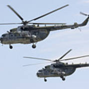Mil Mi-17 Helicopters Of The Czech Air Poster