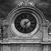 Milan Clock In Black And White Poster
