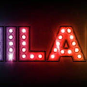 Milan In Lights Poster by Michael Tompsett