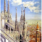 Milan Travel Print Poster