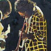 Miles Davis And A Guitar Player  Poster