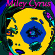 Miley Cyrus At Five With An Attitude Print Poster