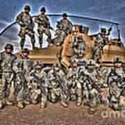 Military Police Pose For This Hdr Image Poster