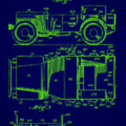 Military Vehicle Body Patent Drawing 1e Poster