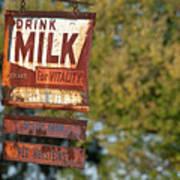 Milk Sign Poster