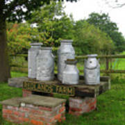 Milkcans Wiltshire England Poster