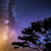 Milky Way In Newport, Or Poster