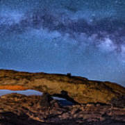 Milky Way Over Mesa Arch Poster
