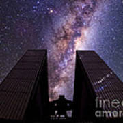 Milky Way Over New Technology Telescope Poster