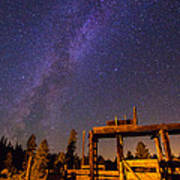 Milky Way Over Old Corral Poster